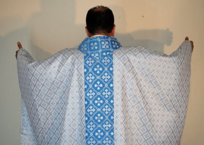 Clergy Vestments Blue and White