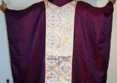Clergy Vestments Purple and Gold